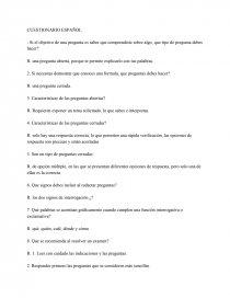 Cuestionario Espanol Sexto Grado Trabajos Documentales Ledesma